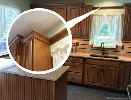 kitchen cabinets top trim how to install crown molding or valance board around a