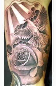 and rose on arm tattoo idea