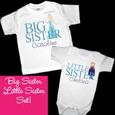 personalized frozen anna and elsa big sister little sister