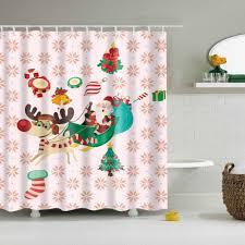online get cheap christmas bath curtain aliexpress com alibaba