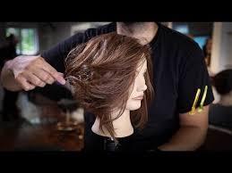 wavy lob haircut tutorial disconnected long bob haircut tutorial how to cut a lob haircut