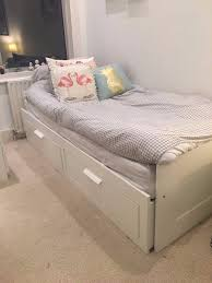 Ikea White Single Bed Ikea Brimnes Single Bed Converts To Double X2 Drawers For