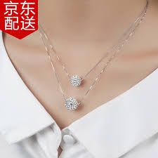silver necklace women images One love 925 sterling silver necklace women double women 39 s jpg