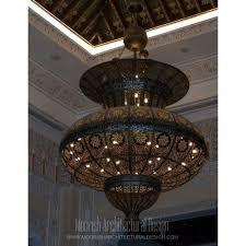 Morrocan Chandelier Large Moorish Chandelier Moroccan Style Light Fixtures