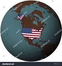 united states globe map usa flag on map earth globe stock illustration 41341393