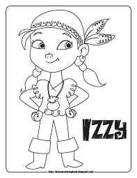 coloring pages kids jake pirates pages neverland