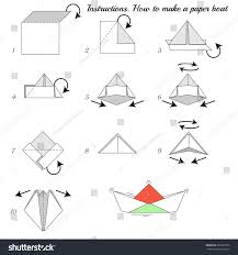 How To Make Boat From Paper - how make paper ship paper stock vector 285627950