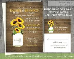sunflower wedding invitations sunflower wedding invites jar and sunflower wedding