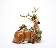 ceramic reindeer figurines ebay