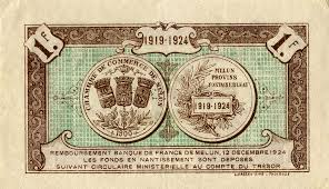 chambre du commerce melun billets de nécessité 1914 1918 melun seine et marne chambre
