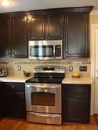 Kitchen Cabinets Painting Ideas by Interesting Chocolate Brown Painted Kitchen Cabinets Image Of