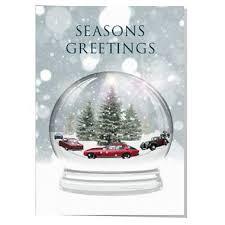 classic car snow globe christmas card u2013 artwords design