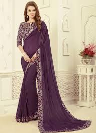 fancy casual wear rich look saree with fancy blouse