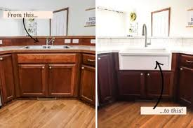 how to make a sink base cabinet diy farmhouse sink installation easy step by step tutorial