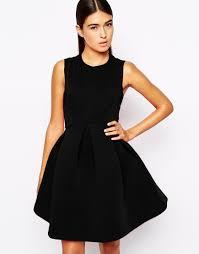 aq aq dresses lyst aq aq candice mini dress with volume skirt in black