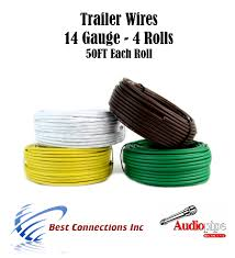 trailer light cable wiring for harness 50ft spools 14 gauge 4 wire