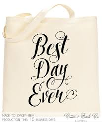 wedding guest bags wedding tote bag best day tote wedding welcome bag