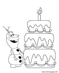 hungry olaf layer cake colouring coloring pages printable