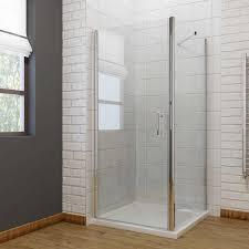 800 Shower Door 800 X 800mm Frameless Hinge Pivot 6mm Shower Enclosure Set