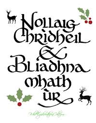 merry and happy new year in scots gaelic roughly