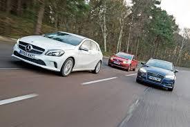lexus ct200h vs audi a1 mercedes a 200 vs audi a3 vs volkswagen golf auto express