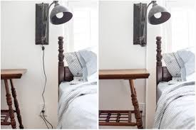 Wall Sconces With Plug In Cords How To Turn A Hard Wire Light Fixture Into A Plug In Maison De Pax