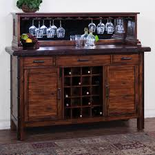 Server Dining Room Rustic Server With Wine Rack Mirrored Hutch My House Ideas