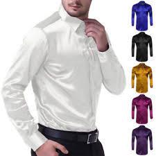 men u0027s satin dress shirts ebay