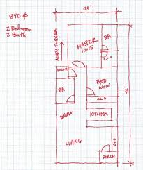 house plans for wide lots open house plan for a small 20 wide house evstudio architect