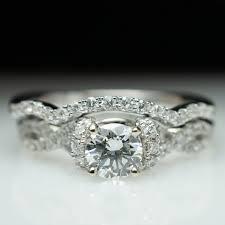 half halo infinity engagement ring u0026 wedding band