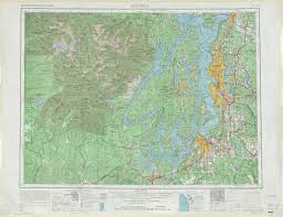 Map Of Seattle Wa by Seattle Topographic Maps Wa Usgs Topo Quad 47122a1 At 1 250 000