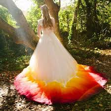 dip dye wedding dress a line court dip dye phenix tulle wedding dress with