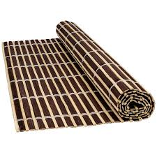 bamboo wood table placemats serving dining sushi oriental large