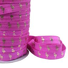 elastic ribbon wholesale flora ribbons wholesale gold foil flamingo fold elastic ribbon