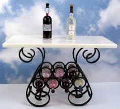 j getzan dollhouse miniatures wrought iron wine racks and tables