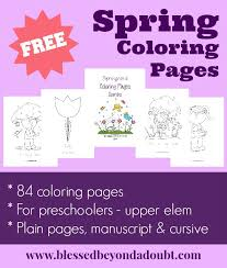 free spring coloring pages multi taskin u0027 mom