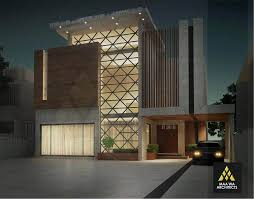 home front view design pictures in pakistan contemporary residence at park view by maa wa architects 1 kanal