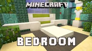 Minecraft Tutorial How To Make A Modern Bedroom Design Coral - Modern house bedroom designs