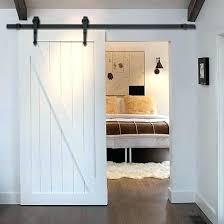 Sliding Barn Door For Closet Barn Style Doors For Closets Single Track Sliding Barn Door