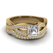 neil bridal set wedding rings neil bridal set split shank halo wedding band