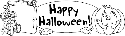 black and white halloween clip art free clipart