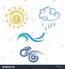 Weather Map Symbols Icon Sun Rain Cloud Wind Waves Stock Vector 253668286 Shutterstock