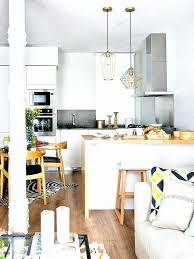 deco salon ouvert sur cuisine cuisine en u ouverte pour tout espace 60 photos et conseils amenager