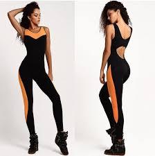 bodysuit jumpsuit jumpsuit sleeveless backless overalls pacthwork fitness