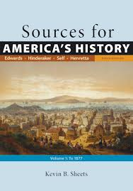 sources for america u0027s history volume 1 to 1877 9781319072902