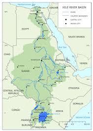 Nile River On Map Uganda Rwanda Tanzania And Ethiopia Claiming The Nile River