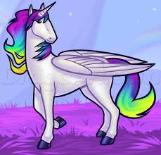 how to draw a rainbow unicorn horses unicorns pinterest