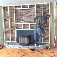 stone veneer fireplace makeover remodel brick how diy stone wall