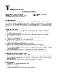 resume format administration manager job profile description for resume medicalfice manager resume exles remarkable duties sle also