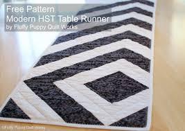Modern Table Runners Fluffy Puppy Quilt Works Free Pdf Pattern Modern Hst Table Runner